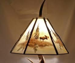 mad river antler mule deer table lamp 405