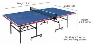 ping pong table dimensions inches learn the dimensions of a fullsize table tennis table with ping pong