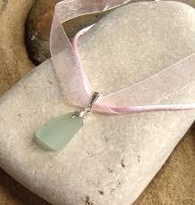 ribbon necklace images Northumbrian aqua sea glass pink ribbon necklace northumbria gems jpg