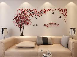 Wall Pictures For Living Room by Amazon Com 3d Couple Tree Wall Murals For Living Room Bedroom