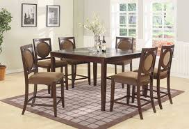dining table bar height tall brown stools bellagio furniture store