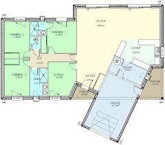 plan plain pied 5 chambres cuisine construction fr plan maison plain pied de type plan