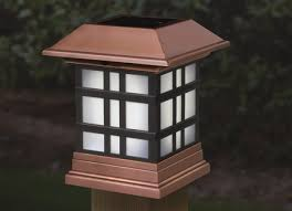designer solar post cap lights brighten your deck fence or rail
