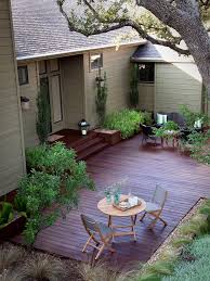 under deck landscaping ideas exterior rustic with exposed beams
