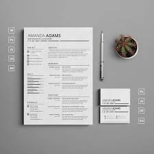 Clean Resume Template Word Single Page Clean Resume Template With Cover Letter And Matching