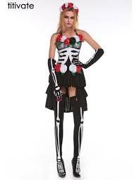 Dead Halloween Costumes Titivate Skeleton Dead Costume Womens Sugar