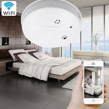 interior home surveillance cameras wifi smoke detector camera camakt 1080p hidden pinhole camera