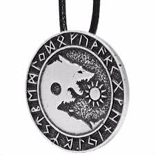 wolf necklace pendant images 1pcs 4008 yin yang wolf pendant necklace tai chi wolves norse jpg