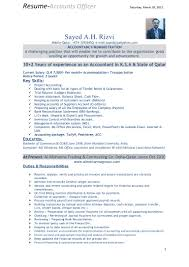 Resume Accounting Examples by Accounts Experience Resume Format Free Resume Example And