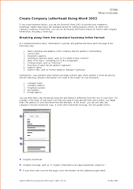 11 company letterhead examples job resumes word
