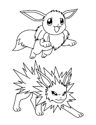 jolteon coloring pages jolteon coloring page free printable
