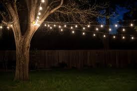 appealing string lights backyard 15 string lights backyard wedding