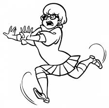 scooby doo velma running position coloring pages cartoon funny