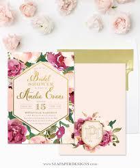 amelia bridal shower invitation burgundy blush pink u0026 gold