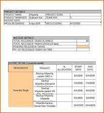 weekly status report template excel 8 weekly status report template doc budget template letter