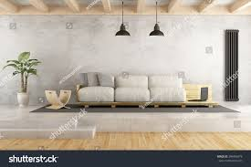 Contemporary Livingrooms Contemporary Living Room Pallet Sofa On Stock Illustration