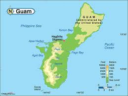 guam on map guam physical map by maps com from maps com s largest map