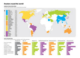 Hungary World Map In Which Countries People Read The Most Books Infographic