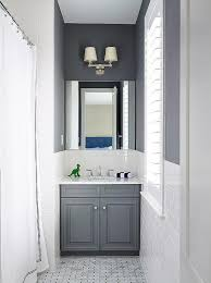 Grey Bathroom Vanity by Charcoal Gray Bathroom Vanity With White Marble Top Transitional