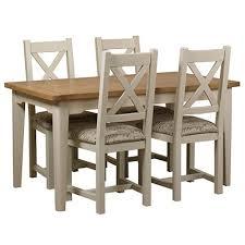 debenhams oak and painted u0027wadebridge u0027 small extending table and 4