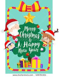vector christmas elf merry christmas greeting stock vector