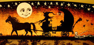 vintage witch wallpaper vintage halloween desktop wallpaper