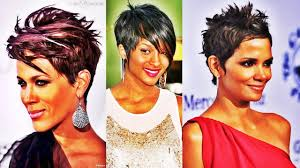 funky hairstyles for women over 50 chic short straight hairstyle short hairstyles for black women