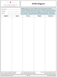 Download A Free Sipoc Diagram Template In Ms Powerpoint Format From Sipoc Template