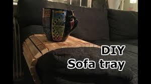 diy sofa tray self adjustable youtube