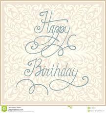 happy birthday greeting card design royalty free stock photos