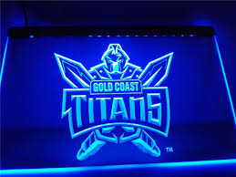 ld376 gold coast titans led neon light sign home decor crafts in