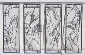 kitchen cabinet door stained glass inserts beveled glass stained glass design legacy glass studios