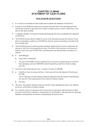 Income Tax Spreadsheet Chapter 13 Man Statement Of Cash Flows