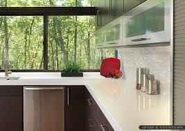 Quartz Countertops With Backsplash - 9 white modern backsplash ideas glass marble mosaic tile