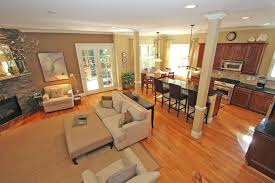 kitchen and dining room layout ideas kitchen living room layout by1 co