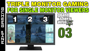 pubg 5760x1080 triple monitor gaming for single monitor viewers gta v part 03