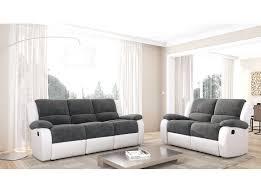 canape relax cuir blanc canape relaxation microfibre ensemble de canapacs 3 places et 2