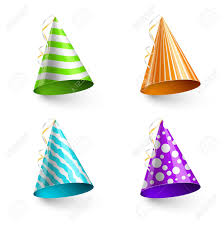 party hats vector child party hats isolated on transparent checkered background