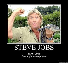Goodnite Meme - crocodile guy in steve job poster goodnight sweet prince know
