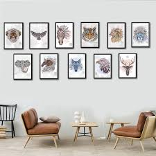 online get cheap framed art for office aliexpress com alibaba group 11 styles wild animal canvas art print poster animals painting no frame home decor for living
