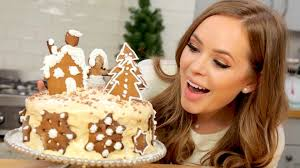 Youtube Christmas Cake Decorations by Baking A Magical Christmas Cake Tanya Burr Youtube