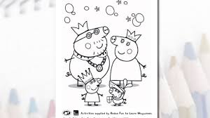 peppa pig colouring preschool activities essential kids