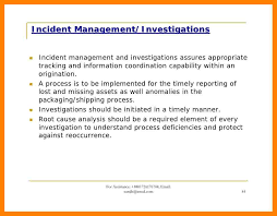 9 incident report sample marital settlements