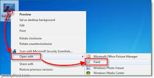 how to resize a photo or screenshot with windows 7 paint