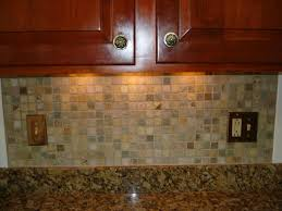 stone mossaic backsplash with metal decos new jersey custom tile