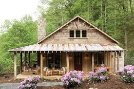 Mountain Cottage House Plans by Whisper Creek Plan Rustic Yet Comfortable Porches Provide The