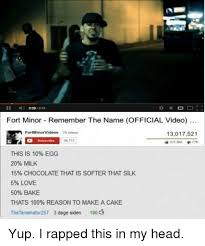 Remember The Name Meme - fort minor remember the name official video fortminorvideos