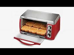 Hamilton Beach 6 Slice Toaster Oven Review Must See Review Hamilton Beach Easy Reach Toaster Oven Red