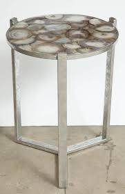 faux agate side table agate coffee table modern geode slice top side at 1stdibs throughout