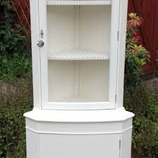 Vintage Display Cabinets Shabby Chic White Corner Cabinet Vintage Display Cabinet